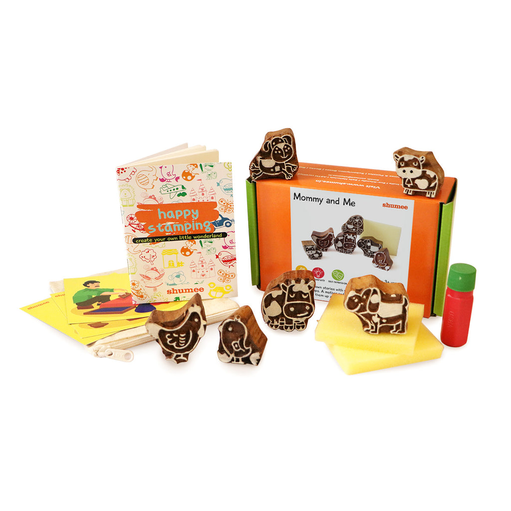 Mommy and Me Wooden Stamps Set | Free Shipping - Shumee