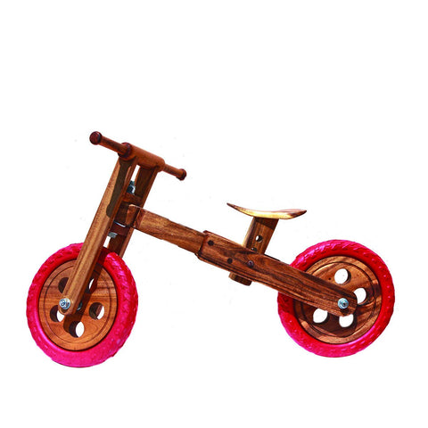 Non Toxic Wooden Balance Bike Red