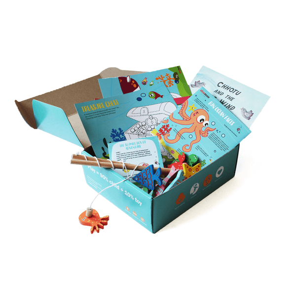 Box of Adventure with fishing and sea adventure