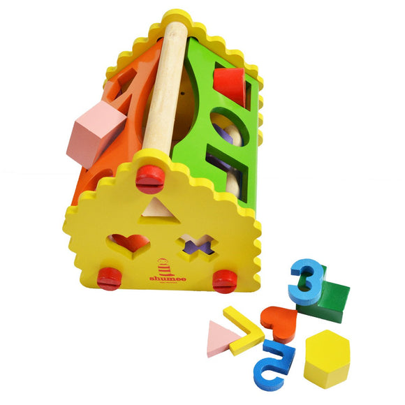 Shape and Number House - Wooden Block Toy