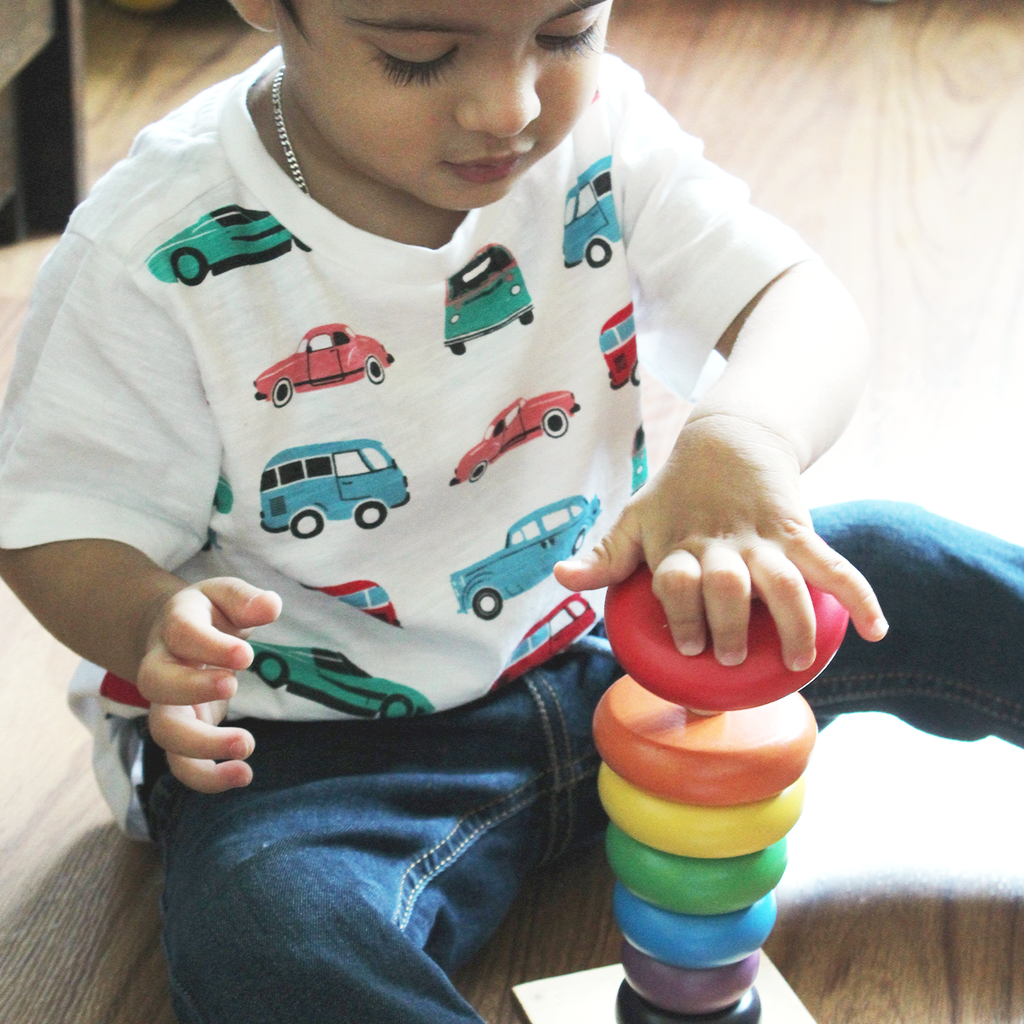 Rainbow Wooden Stacker
