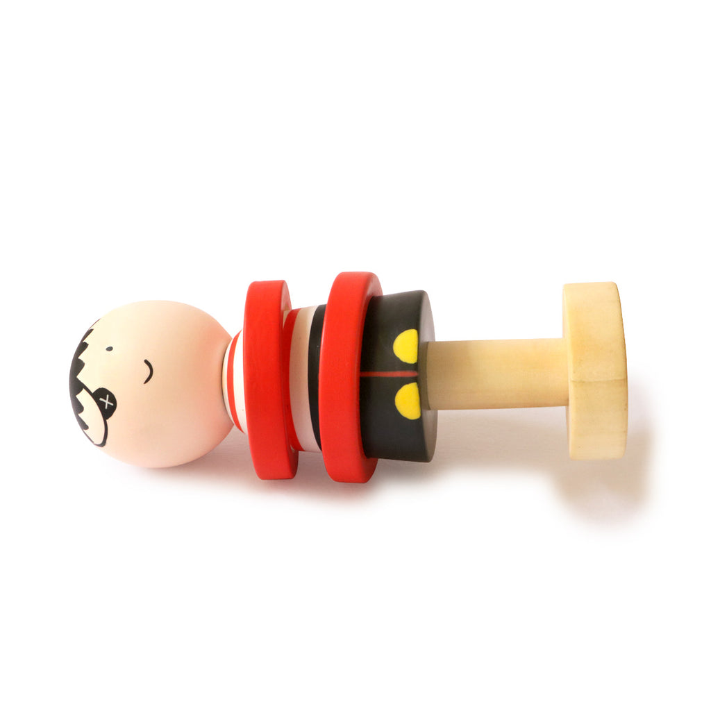 Wooden Pirate Rattle for Babies