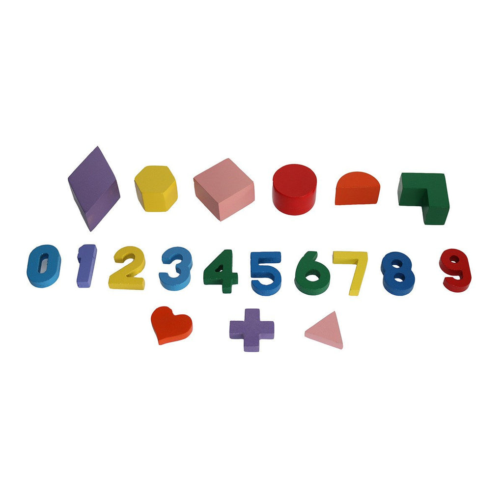 Shape and Number Wooden Toy House