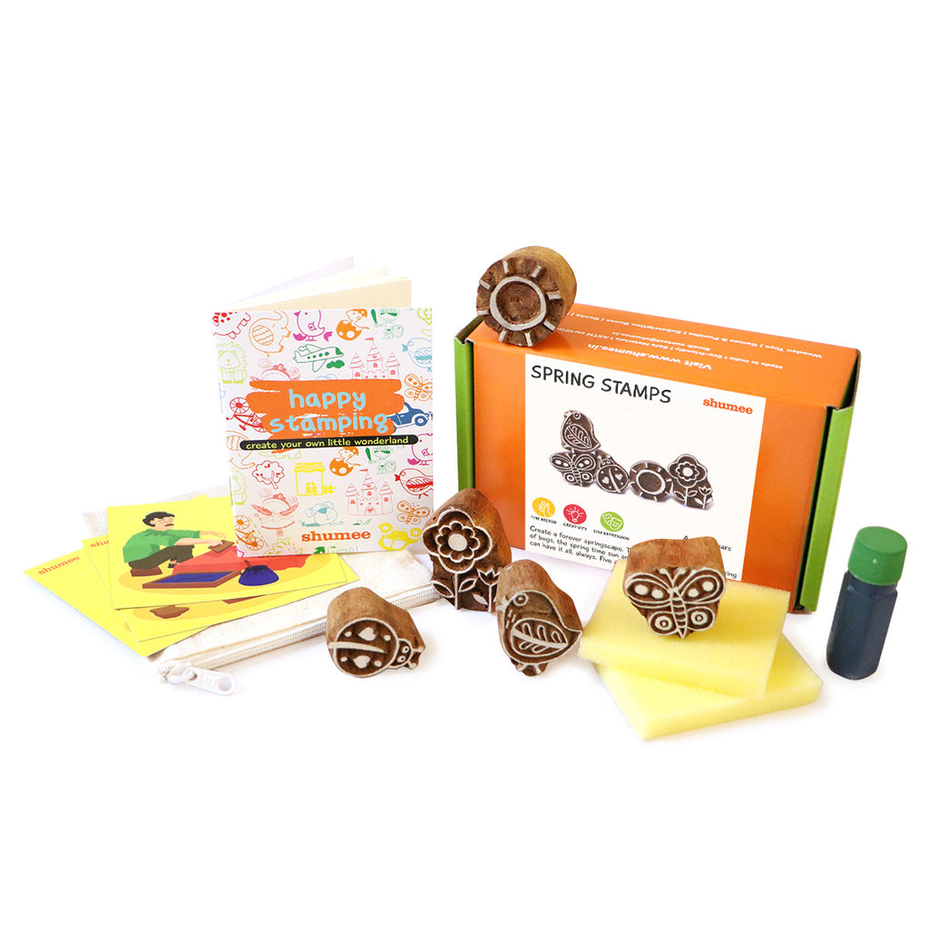 Spring Stamps - Set of Wood-crafted Stamps - Shumee
