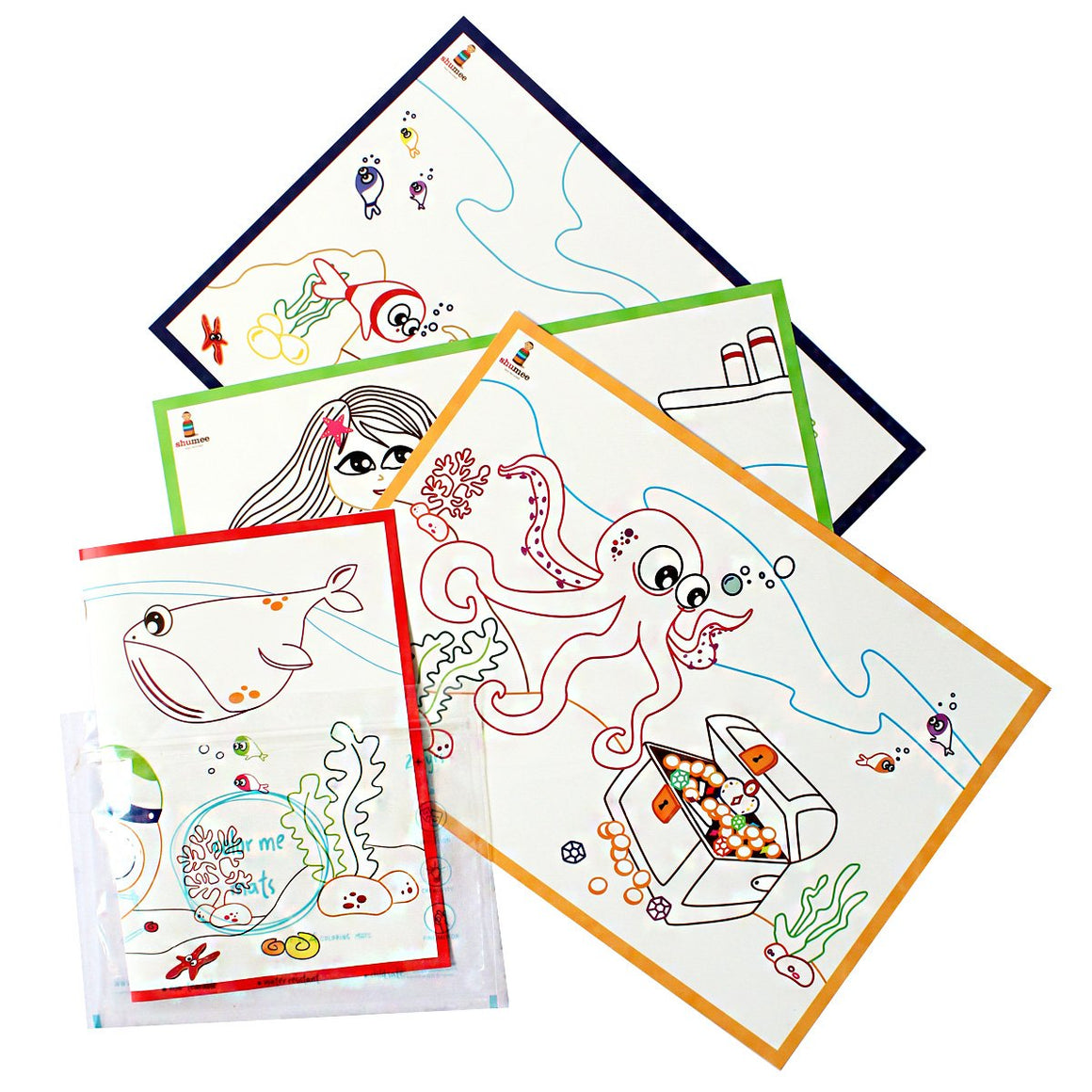 Coloring Mats for Kids - Ocean Life | Free Shipping - Shumee
