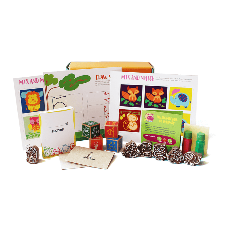 Box of Whimsy - Stamps and Activity Sheets