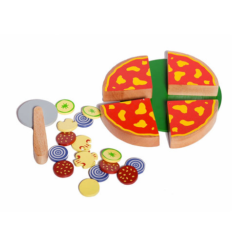 Wooden Pizza Pretend Play Toy Set