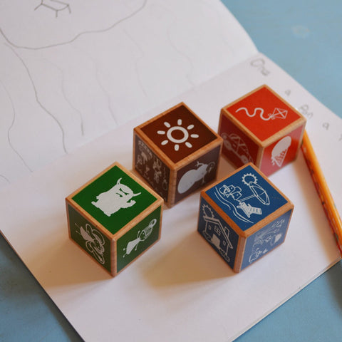 Wooden Story Cubes - Toddler Toy