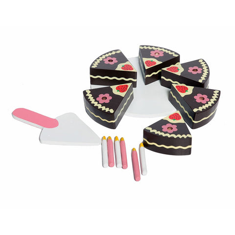 Wooden Strawberry Cake Pretend Play Toy Set