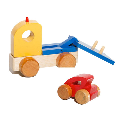 Wooden Tow Truck Toy