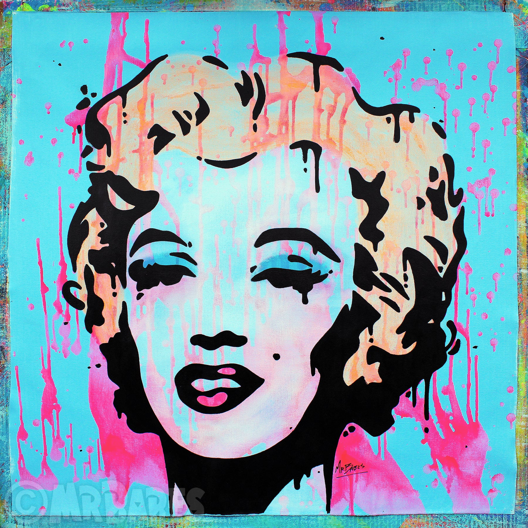 """Marilyn Monroe (Andy Warhol Homage)"""