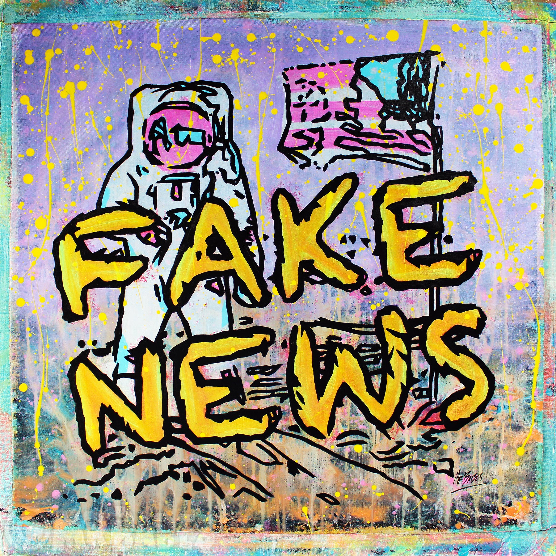 """Fake News (Andy Warhol Moonwalk Satire)"""