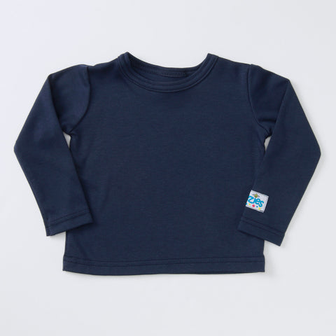 Classic Little Man Long Sleeve t-shirt (navy)