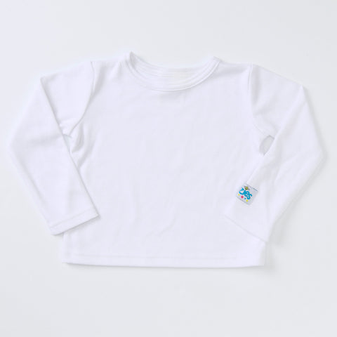 Little Man Long Sleeve T (white)