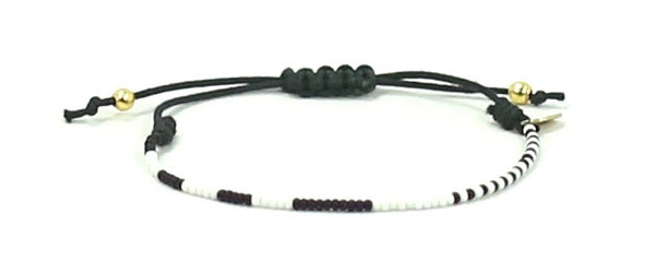 The Young and Brave String Tie Bracelet - Bead Relief