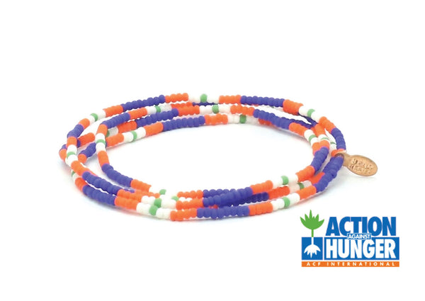 Action Against Hunger Wrap Bracelet - Bead Relief