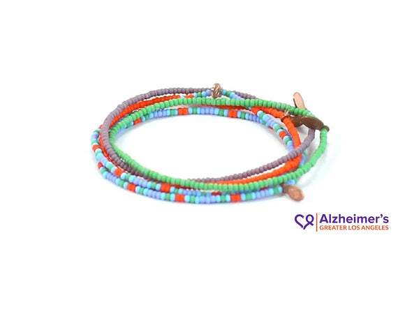 Alzheimer's Greater Los Angeles Bracelet 5-pack - Bead Relief