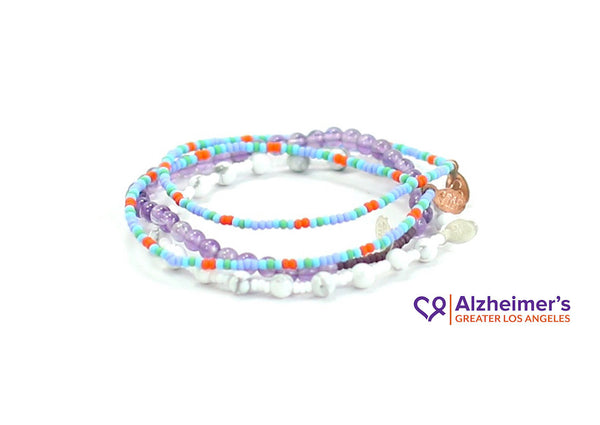 Alzheimer's Greater Los Angeles Bracelet Combo Stack - Bead Relief