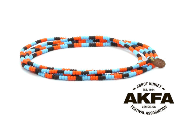 Abbot Kinney Festival Association Wrap Bracelet - Bead Relief