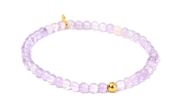 Amethyst | Gold Line - Bead Relief