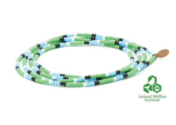 Animal Welfare Institute Wrap Bracelet - Bead Relief