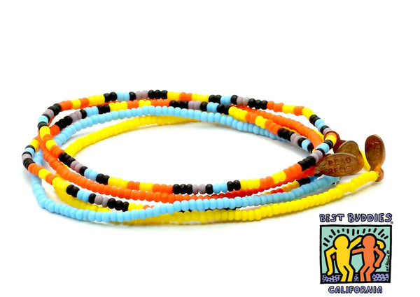 Best Buddies California Bracelet 5-Pack - Bead Relief
