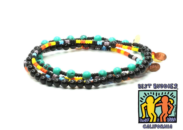 Best Buddies Charity Bracelet Combo Stack - Bead Relief
