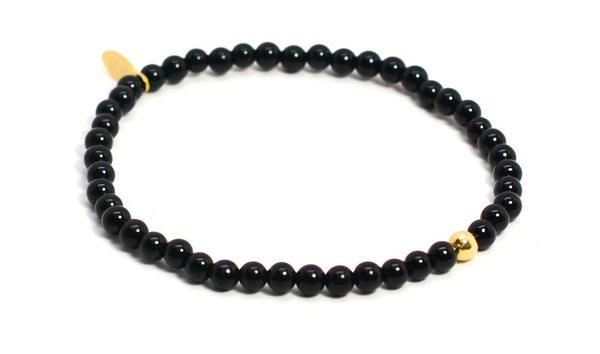 Black Onyx | Gold Line - Bead Relief