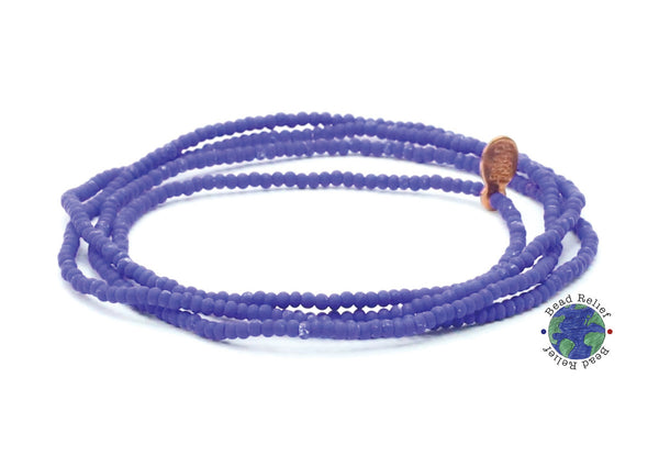 Blue Wrap Bracelet - Bead Relief