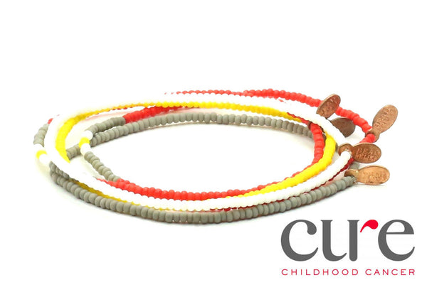 CURE Childhood Cancer Bracelet 5-pack - Bead Relief