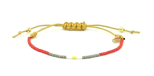 CURE Childhood Cancer String Tie Bracelet - Bead Relief