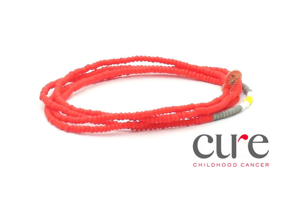 CURE Childhood Cancer Wrap Bracelet - Bead Relief
