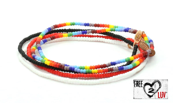 Free2Luv Bracelet 5-Pack - Bead Relief