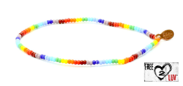 Free2Luv Anti-Bullying & Equal Rights Bracelet - Bead Relief