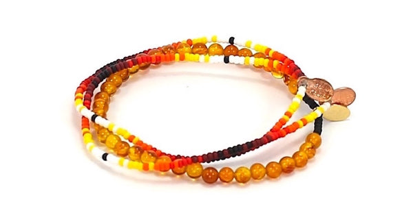 Fire Natural Stone Set - Bead Relief