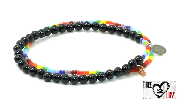 Free2Luv Natural Stone Bracelet - Bead Relief