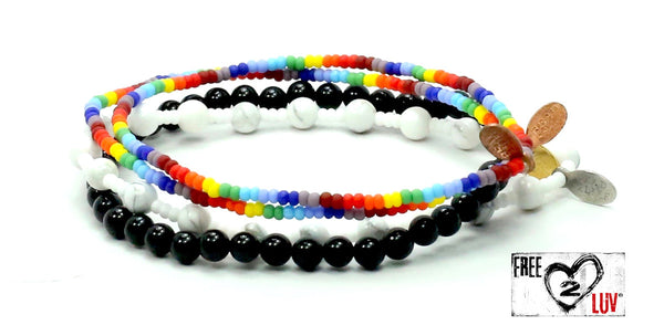 Free2Luv Bracelet Combo Stack - Bead Relief