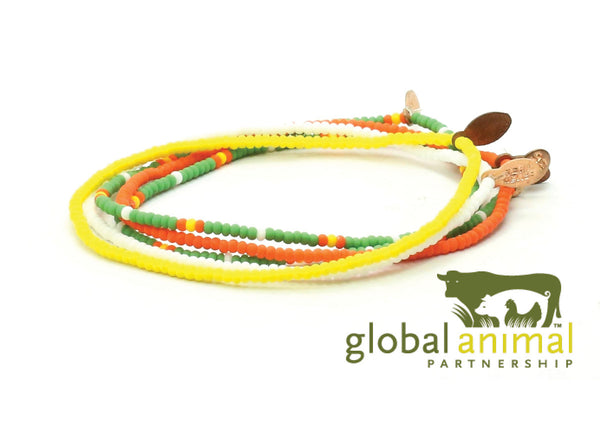 Global Animal Partnership Bracelet 5-pack - Bead Relief