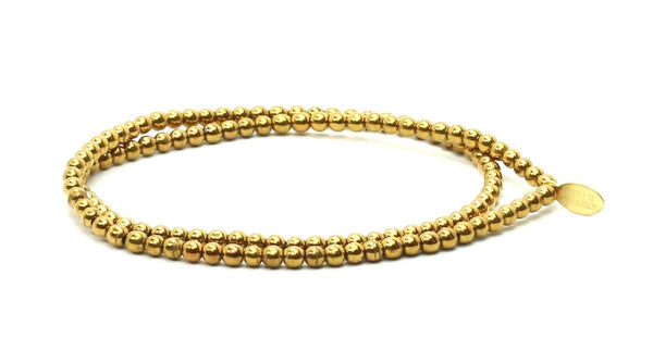 Gold Plated Double Wrap | Metals Bracelet - Bead Relief
