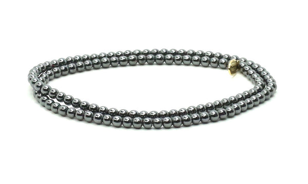 Gun Metal Double Wrap | Metals Bracelet - Bead Relief
