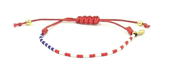 Harvesting Happiness for Heroes String Tie Bracelet - Bead Relief
