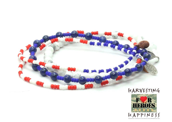 Harvesting Happiness for Heroes Bracelet Combo Stack - Bead Relief