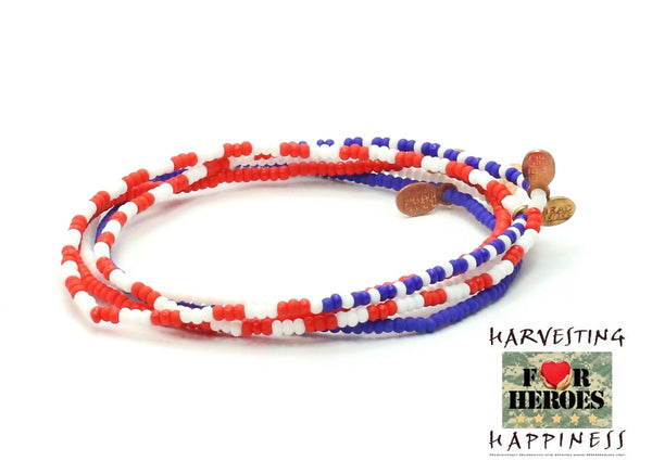 Harvesting Happiness for Heroes Bracelet 5-pack - Bead Relief