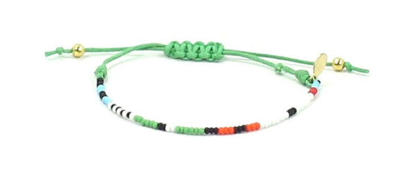 International Bipolar Foundation String Tie Bracelet - Bead Relief