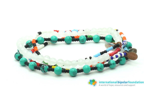 International Bipolar Foundation Bracelet Combo Stack - Bead Relief