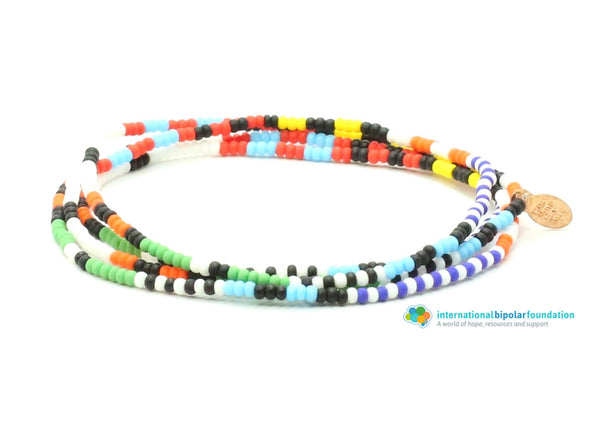 International Bipolar Foundation Wrap Bracelet - Bead Relief