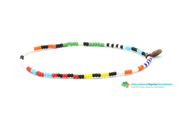 International Bipolar Foundation Bracelet - Bead Relief