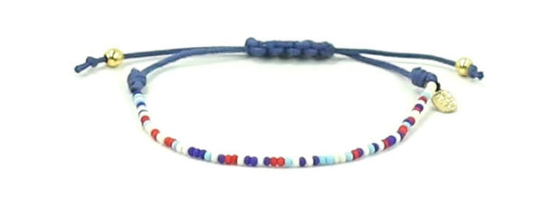 Life Rolls On String Tie Bracelet - Bead Relief