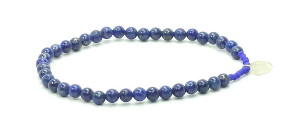 52 THE LONELY WHALE FOUNDATION Lapis Bracelet - Bead Relief