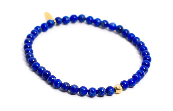 Lapis | Gold Line - Bead Relief